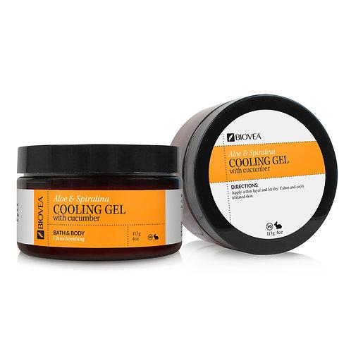ALOE AND SPIRULINA COOLING GEL (Organic) (4oz) 118ml