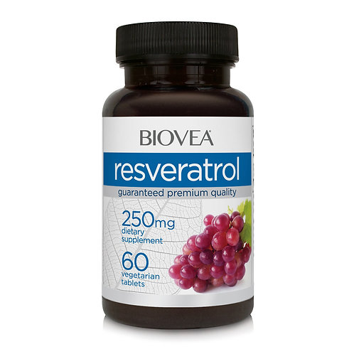 RESVERATROL 250mg 60 Vegetarian Tablets