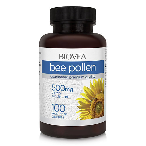 BEE POLLEN 500mg 100 Vegetarian Capsules