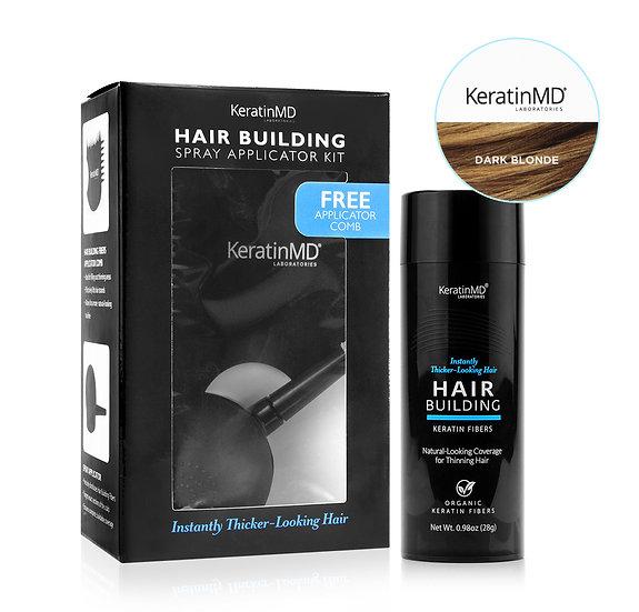 HAIR BUILDING FIBERS (Dark Blonde) 60 Day Supply + APPLICATOR