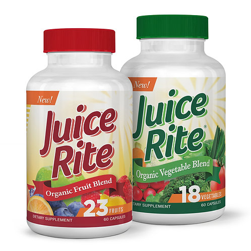 JUICE-RITE Fruits & Vegetables (Organic) 1 Month Supply