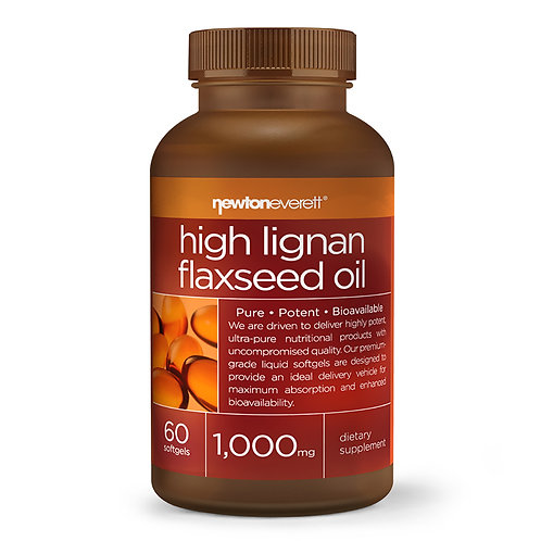 FLAX SEED OIL (High Lignan) 1000mg 60 Softgels