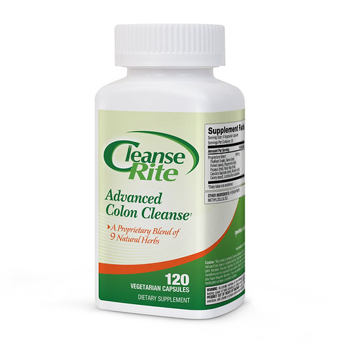 CLEANSE-RITE ADVANCED COLON CLEANSE 120 Vegetarian Capsules