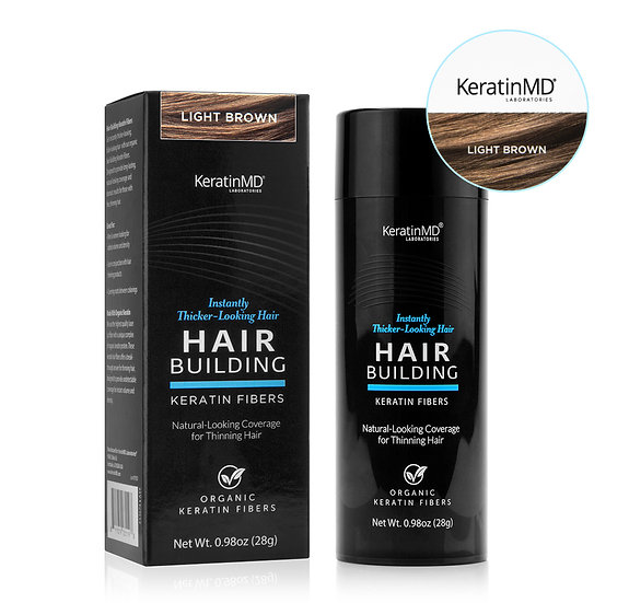HAIR BUILDING FIBERS (Light Brown) 60 Day Supply 0.98oz/28g