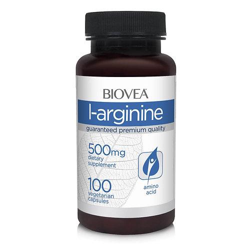 L-ARGININE 500mg 100 Vegetarian Capsules