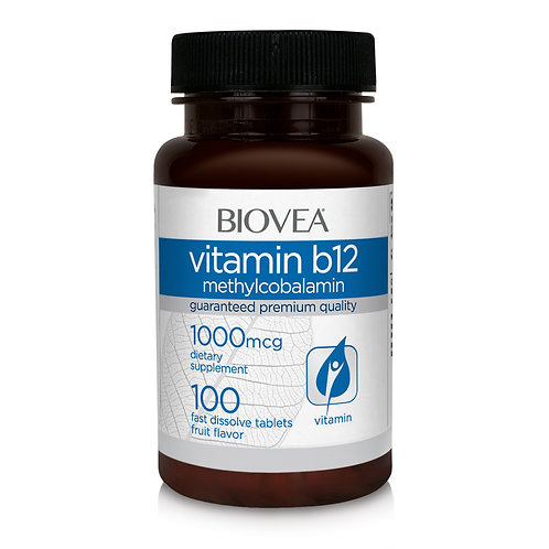 VITAMIN B12 (Methylcobalamin) 1000mcg 100 Fast Dissolve Tablets
