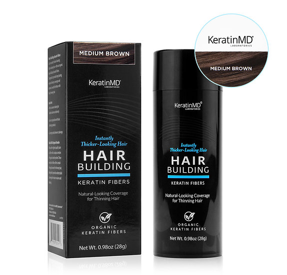 HAIR BUILDING FIBERS (Medium Brown) 60 Day Supply 0.98oz/28g