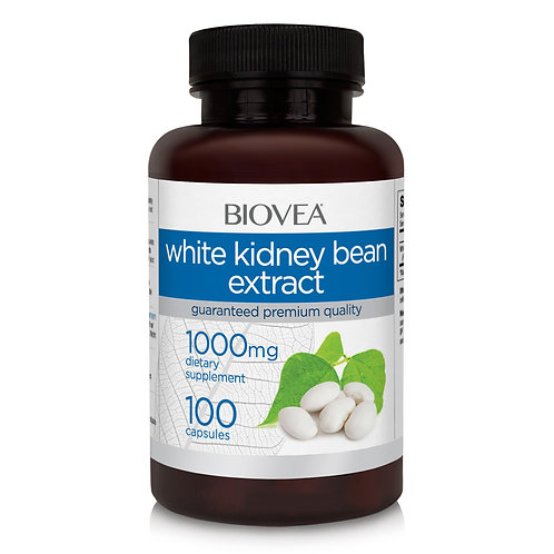 WHITE KIDNEY BEAN EXTRACT 1000mg 100 Vegetarian Capsules