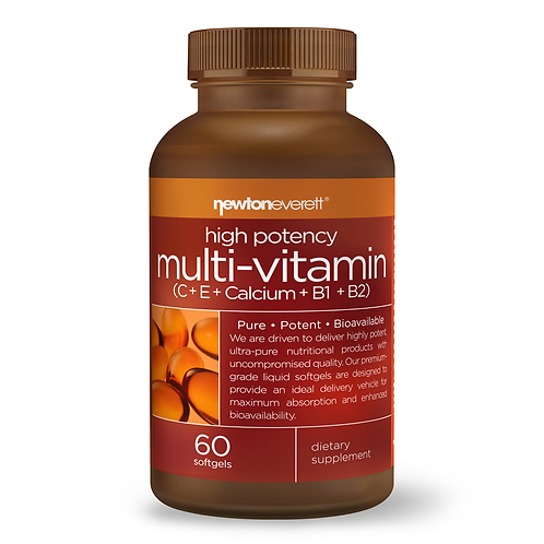 HIGH POTENCY MULTI-VITAMIN (C+E+CALCIUM+B1+B2) 60 Softgels