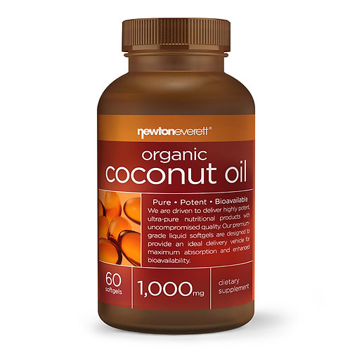 COCONUT OIL (Organic) 1000mg 60 Softgels