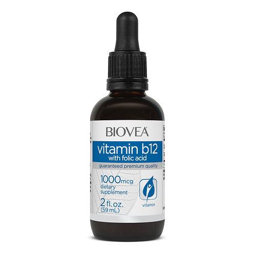 VITAMIN B12 (with Folic Acid) LIQUID DROPS 1000mcg (2oz) 60ml