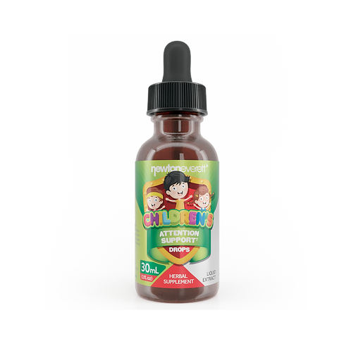 CHILDREN'S ATTENTION SUPPORT LIQUID DROPS (Alcohol Free) (1oz) 30ml