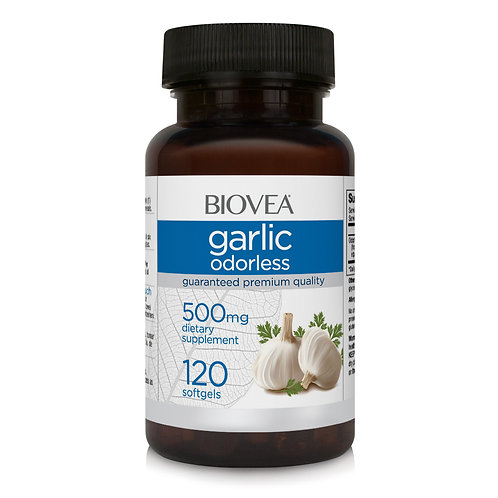 GARLIC (Odorless) 500mg 120 Softgels