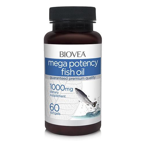 MEGA POTENCY FISH OIL 1000mg 60 Softgels