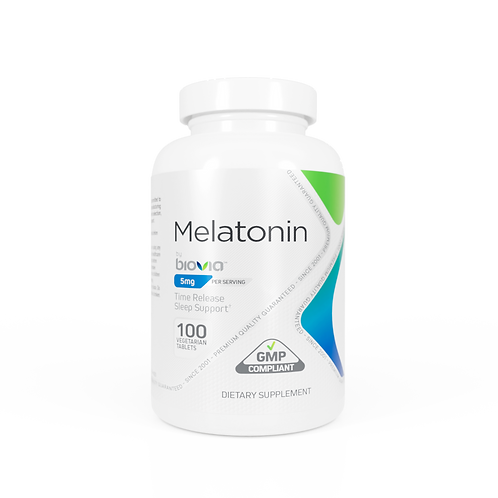 MELATONIN 5mg (Time Release) 100 Vegetarian Tablets