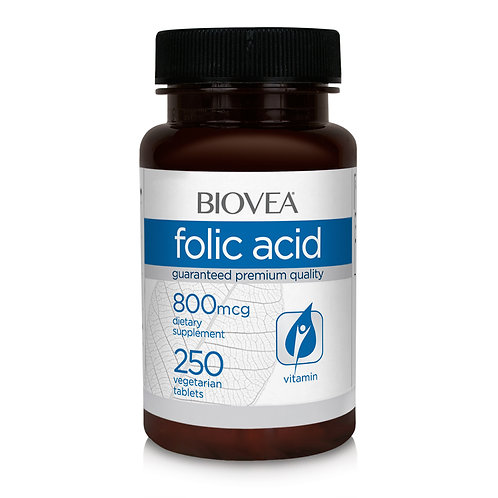 FOLIC ACID 800mcg 250 Tablets
