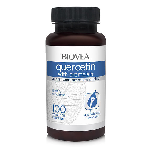 QUERCETIN WITH BROMELAIN 100 Vegetarian Capsules