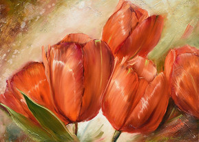 With Love, From Russia : Red Tulips