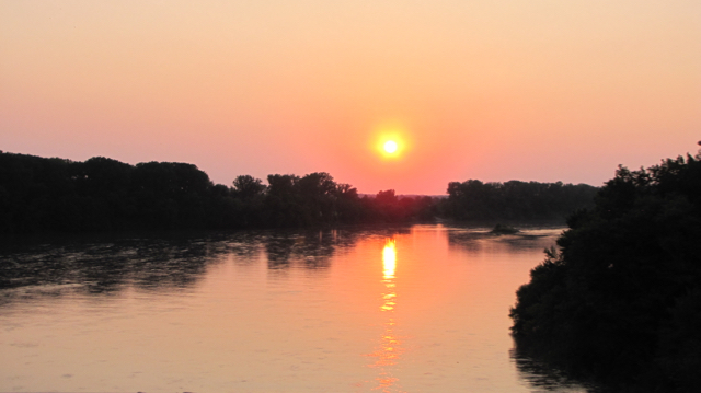 Sunset on the Kaw