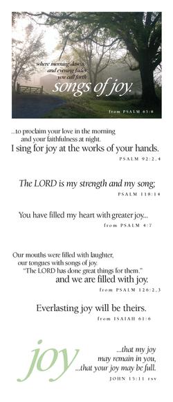Joy (songs of joy)