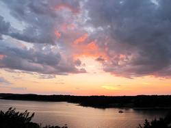 Pink Sunset at Table Rock Lake