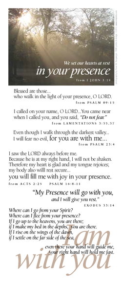 I am with you (presence)