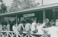 Kids on Dining Hall Porch