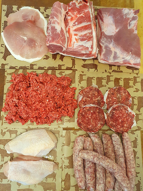 Meat Box 1, Lamb Roast, Gammon Steaks, Pork Belly