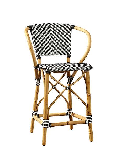 Terrific Woven Rattan Bar Stool 3 Colors Inzonedesignstudio Interior Chair Design Inzonedesignstudiocom