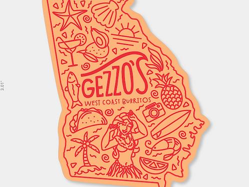 Gezzo's Georgia Die Cut Sticker