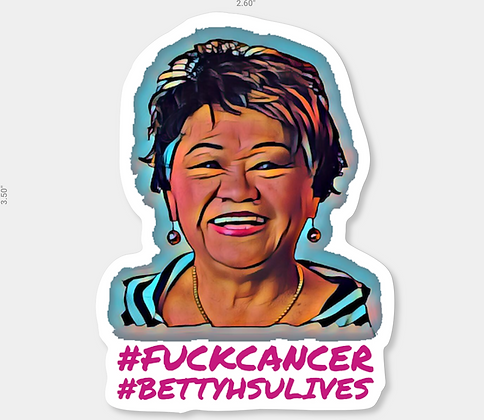 Betty Hsu Lives Die Cut Sticker