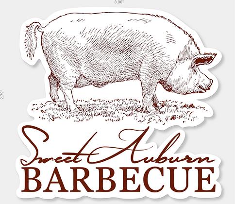 Sweet Auburn BBQ Logo Die-Cut Sticker