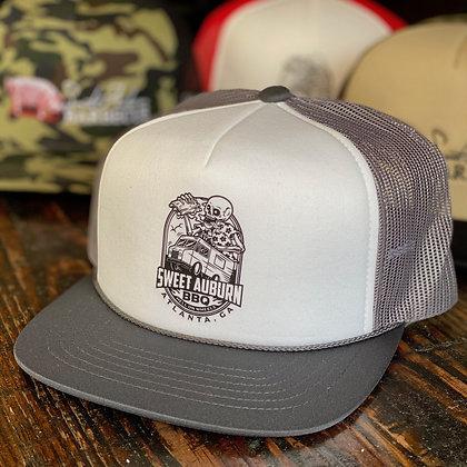 Gray Hell on Wheels Foam Trucker Hat