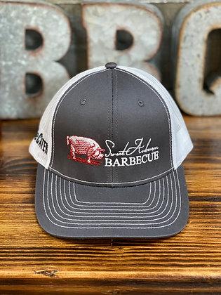 Black Embroidered Trucker Hat