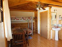Cabin 1 Bunks Dining Area