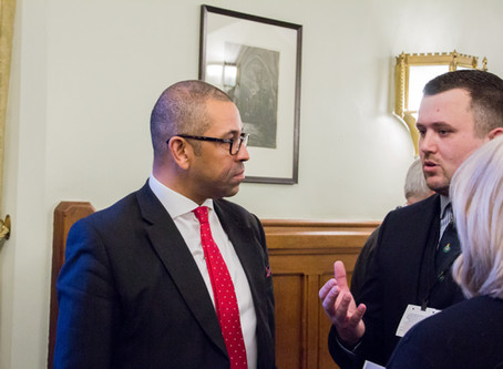 ExFor+ C.I.C. CEO Simon Adams Speaking with Rt Hon James Cleverly MP