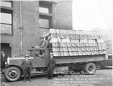 citrus crates on truck