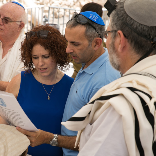 Egalitarian service at the Kotel