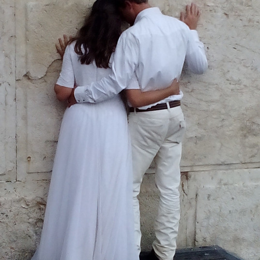 Wedding photo at the Kotel