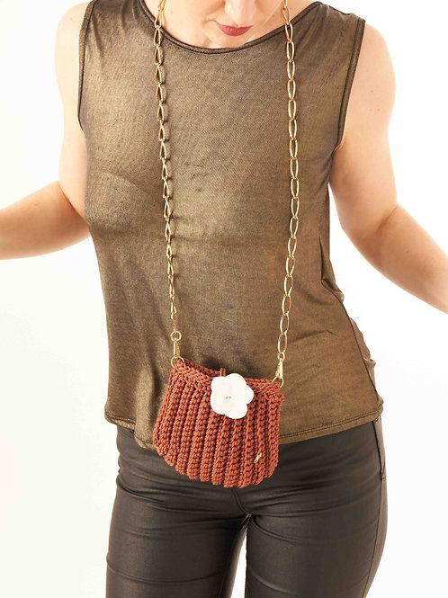 Shelly, mini bag marrone