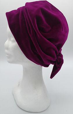 20w0029 cappello velluto con nodo latera