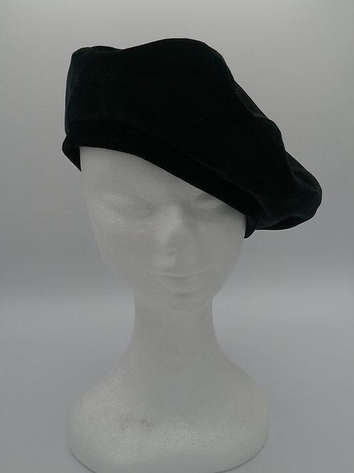 Basco in velluto color nero