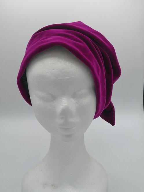 Bonnet hat color fucsia