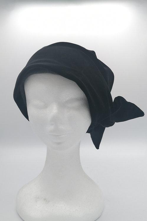 Bonnet hat color nero