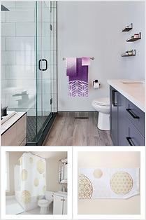 badezimmer badetuch handtuch duschvorhang energetisch blume des lebens  teppich deko online kaufen schweiz