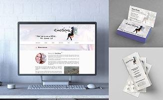 Emo'Sons webdesign rollup visitenkarte design grafiker online vibration