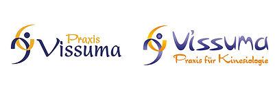 Praxis Vissuma vorher nachher redesign logo
