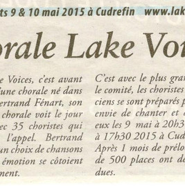 Journal le Lac 07.05.2015