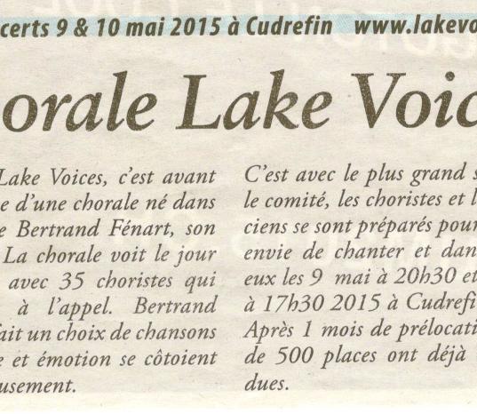 Journal le Lac 07.05.2015