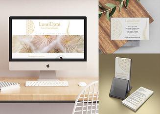 LumiDoré energie therapeutin webdesign flyer visitenkarte gold blume des lebens